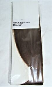 """Tape In Human Hair 22"""" Extensions - Color 6 (Light Reddish Brown)"""