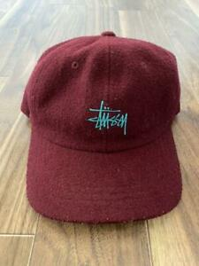 STUSSY Cap Madder Red Hat Men's Accessories Made in Bangladesh Head Fashion Item