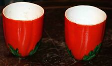 2 Vintage Hand Painted Maruhon Tomato cups