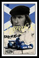 JACKIE STEWART - FORMULA 1 CHAMPION - PORTRAIT POSTER - REALLY COOL ARTWORK!!!