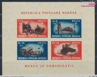 Rumänien Block38 ungebraucht 1948 Verkehrswesen (8688256