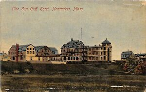 H61/ Nantucket Massachusetts Postcard c1910 The Sea Cliff Hotel Building