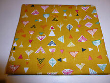 Dashwood Studios Nature Trail Flowers on Gold, Fat Quarter-100%cotton, quilting