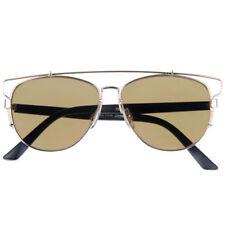 Gafas de sol de mujer aviadores oro metal