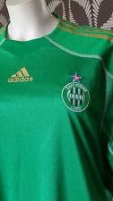 Adidas Green Gold Formotion Match Saint Etienne Football Jersey Shirt Top L