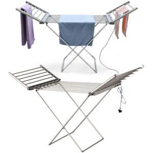 Heated Clothes Airer Washing Dryer Portable Electric Indoor Rack Laundry Folding