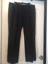Rafaella Sz 16 Women Black & White Tweed Pants W/ Back Pockets! Free Shipping!