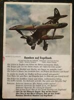 1941 Rumbach Germany Feldpost Postcard Cover Bombing England