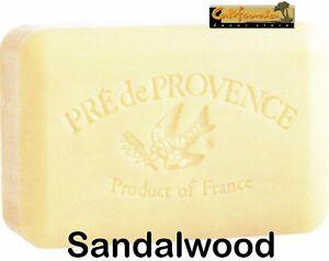 Pre de Provence SANDALWOOD 250 Gram French Soap Bath Shower Bar Shea Butter XL