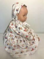 "Lissi Neustadt GMBH 96465 Baby Doll 18"" Vinyl & Cloth Body Dress Bonnet Bloomers"