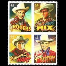 Cowboys of the Silver Screen excellent état auto-adhésif bloc de 4 2010 USA