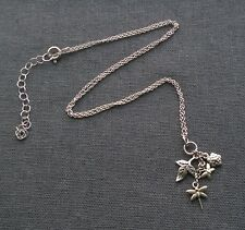 """SOLID 925 STERLING SILVER AUTUMN LEAVES CHARMS PENDANT 16""""  18"""""""