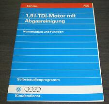 Audi 80 B4 Audi 100 C4 Cabrio 1,9l TDI Motor Abgasreinigung  SSP 153