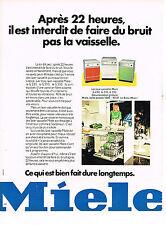 PUBLICITE  1974   MIELE   lave vaisselle