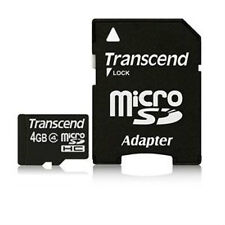 2 Pcs Transcend 4GB Class 4 MicroSD Memory with Adapter for Android Cell Phones