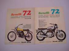 advertising Pubblicità 1972 BENELLI 650 TORNADO/50 CROS
