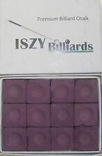 Premium Pool Table Billiard Cue Chalk 12 Pieces Purple