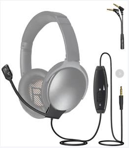 Detachable Boom Cable Microphone for Bose QuietComfort 35 / II /QC25 Headphones