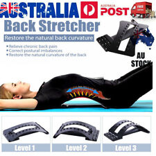 Back Stretcher Arched Stretch Extender Posture Massager Chiro Lumbar Support BLK