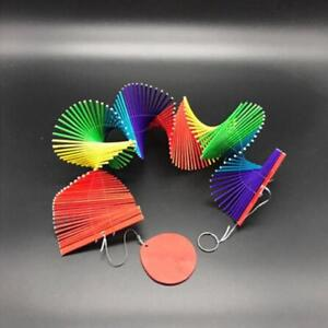 Rainbow Wind Spinner Twister Colourful Hanging Garden Wind Spinner Decoration MA