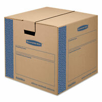 Bankers Box SmoothMove Prime Medium Moving Boxes 18l x 18w x 16h Kraft/Blue 8