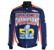 Denver Broncos NFL Men's Super Bowl 50 Champions Cotton Twill Jacket LARGE