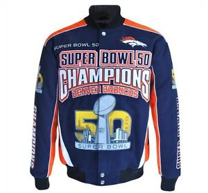 Denver Broncos NFL Men's Super Bowl 50 Champions Cotton Twill Jacket 4XL (XXXXL)