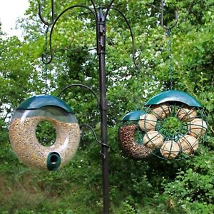 Hanging Wild Bird Feeder 3pcs Seed Nut Fat Ball Garden Feeding Station Donut