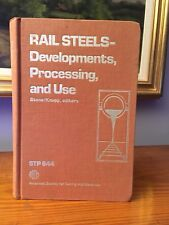 Rail Steel Developments Processing 1978 ASTM Related Alloys 644