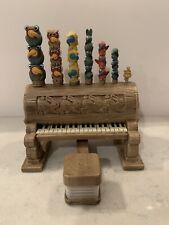 RARE! Snow White Disney & 7 Dwarfs Toy Piano - Accordion Seat Pumps Totem EUC