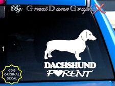 Dachshund PARENT(S) - Vinyl Decal Sticker / Color Choice - HIGH QUALITY
