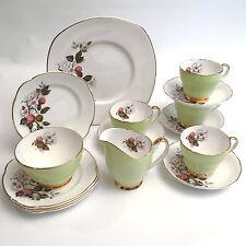 15 PC Argyle Fine Bone China Tea / Luncheon / Dessert Set For 4 Made in England