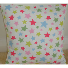 "16"" Cushion Cover Cath Kidston Shooting Star Handmade Stars Red Pink Blue"