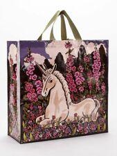 "Unicorn Blue-Q Shoppers Tote New Re-Usable 15""h x 16""w x 6"" Fantasy Fashion"