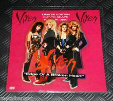 "Vixen 'Edge Of A Broken Heart' LTD Edn UK '88 ORG 7"" Shaped EP Picture Disc Rare"