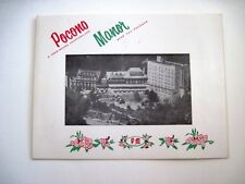 "Vintage B&W Photo In a Souvenir Frame From ""Pocono Manor"" w/ Pic of Hotel (A)*"