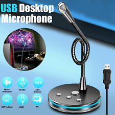 USB Conference Microphone Recording Cool LED Mic for Computer PC Desktop Laptop