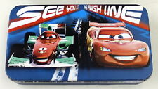 Walt Disney's Cars 2 Movie At Finish Line Tin Catch All Storage Box NEW UNUSED