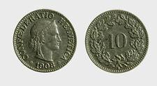 s528_102) Svizzera  Switzerland  Helvetia - SUISSE -  10 Rappen 1903 B