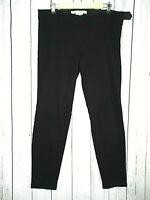 MAX STUDIO Women's Black Textured Pattern Stretch Crop Slim Ankle Pants Size 12