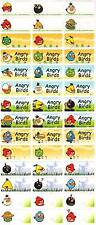 Personalized Waterproof Name labels stickers, 36 Birds 2 , day care, school,