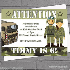 Military Birthday Cards And Stationery For Children Ebay