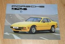 FOLLETO de Porsche 924 - 1977