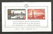 Switzerland / Helvetia / Suisse 1942 - Souvenir Sheet #7 MH * CV 60€