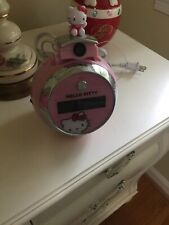 Hello Kitty Pink Alarm Projection Digital Clock Radio AM/FM 1501WH01