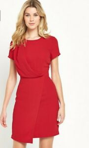 Red Wrap Dress Size 20 South Draped Front  BNWT RRP £44