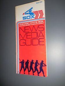 1977 Chicago White Sox Media Guide South Side Hitmen