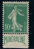 n°188A 10c Vert type semeuse MINÉRALINE Neuf* TB - Signé Calves + Certificat