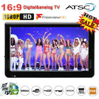 "12"" inch LCD Digital TV Player 1080P Widescreen Television AV/USB/TF/HDMI Lot JS"