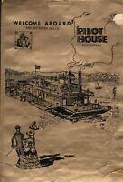 Vintage PILOT HOUSE Restaurant Menu Southern Belle Riverboat